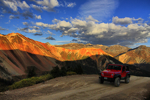 red mountain mountains sunrise dawn highway san colorado jeep juan 4x4 silverton rocky 4wd dollar million corkscrew skyway ouray rubicon