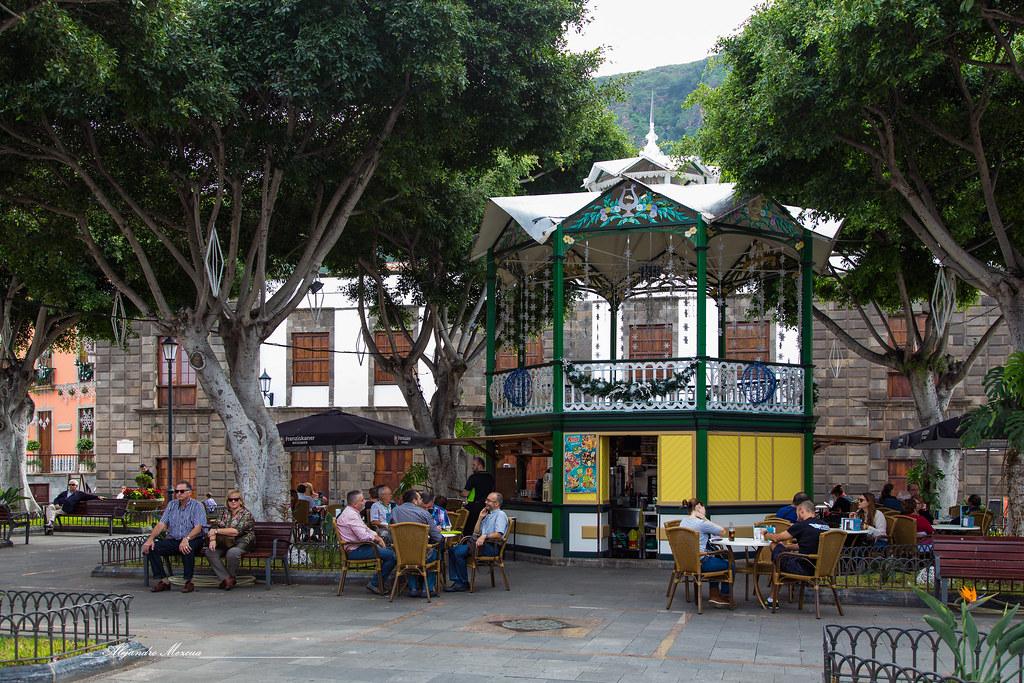 Terraza Parque Garachico Kiosco Terraza En El Parque Junt