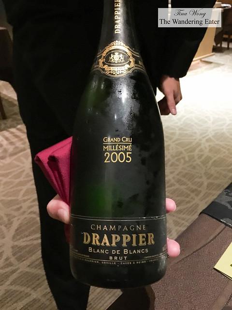 2005 Grand Cru Millesime, Blanc de Blancs, Champagne Drappier to start