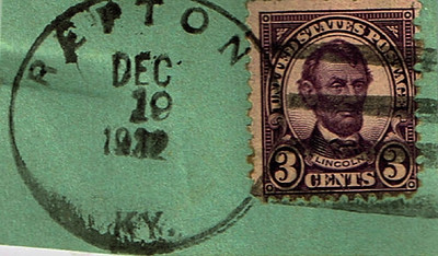 Cancelled Lincoln 3 Cent Stamp