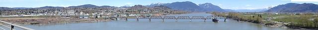 Mission Railway bridge over the Fraser River