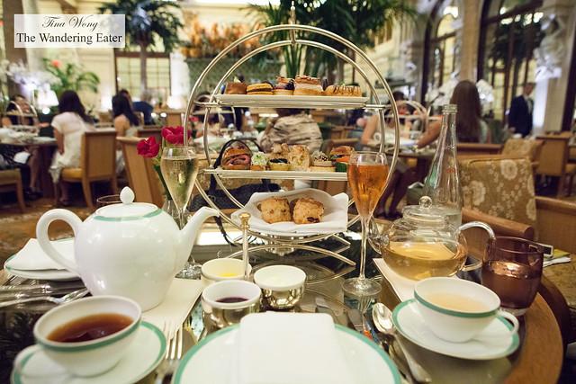 Our Champagne Tea spread