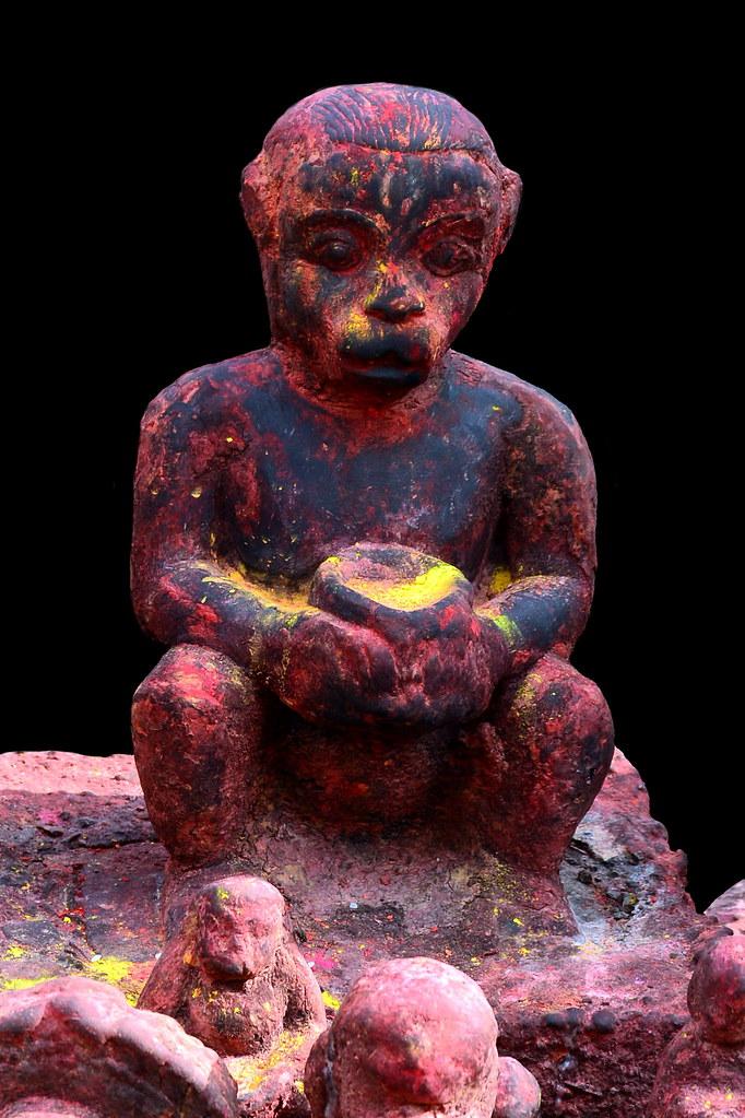 Nepal - Bungamati - Karya Binayak Temple - Hanuman - 20d