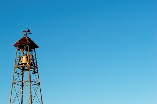 weathervane sunsetlight belltower california placerville hangtown