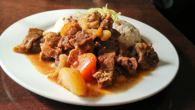 Various of Mongolian cuisine - Stew with rice