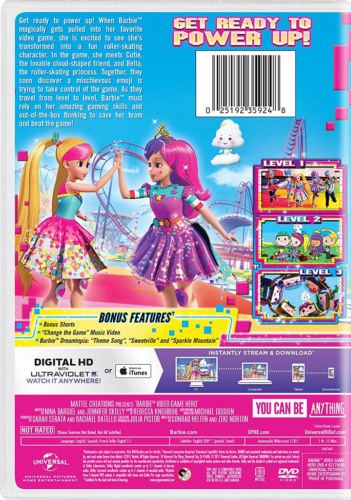 Barbie: Video Game Hero DVD/Blu-ray Cover | Release: January… | Flickr