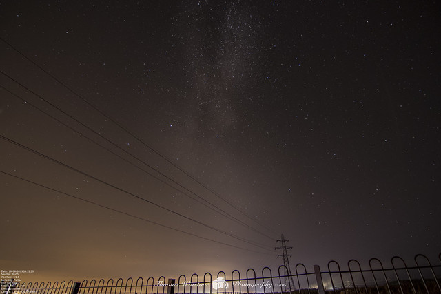 Long Exposures of the sky above Ebbw Vale