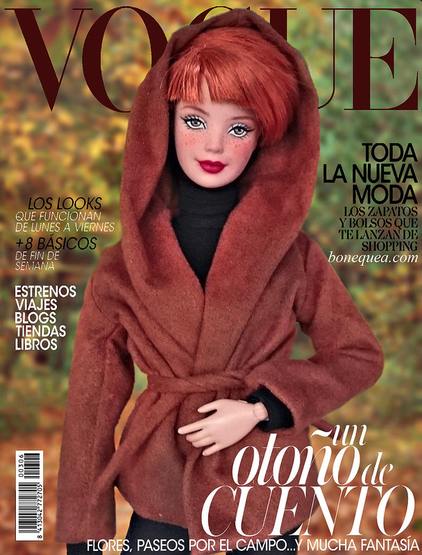 Vogue Magacine cover: ooak Barbie