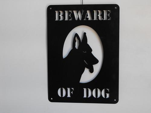 beware of dog   by providencemetalart