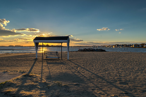 ocean sunset shadow sky beach clouds evening sand nikon shadows connecticut swing hdr goldenhour clintontownbeach nikond5300