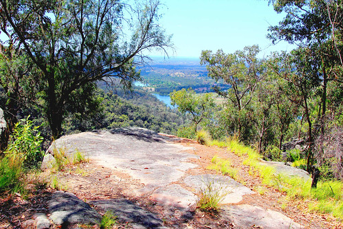 yellowrock lookout view water river nepean bluemountains rock