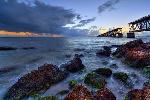 sea clouds rocks unitedstates florida railway hdr floridakeys bahiahonda 3xp sunsetandsunrises absolutelystunningscapes cloudsstormssunsetssunrises