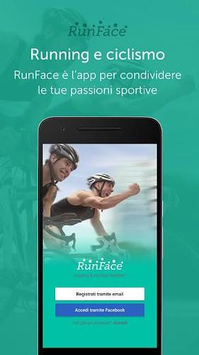 RunFace per iPhone e Android - l'app social per gli appassionati di corsa e ciclismo!