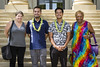 UH Kapiolani Community College's nursing program staff with student veteran scholarship recipients