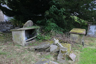 Gravestones and an ancient yew, Discoed churchyard | by pluralzed