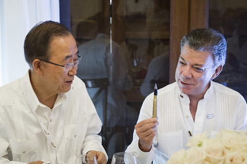 Pens Made from Recycled Bullets Used for Colombia Peace Agreement Signature | by United Nations Photo