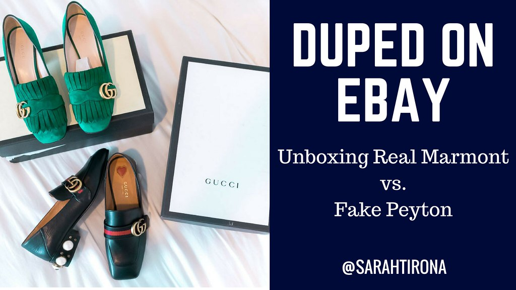 838aff9bba9479 HOW TO SPOT: FAKE GUCCI MARMONT AND PEYTON LOAFERS