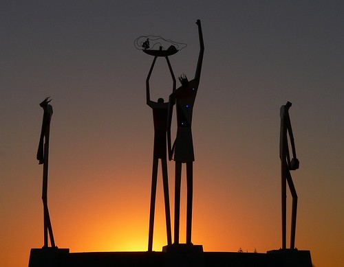 sunrise sillouette sculpture
