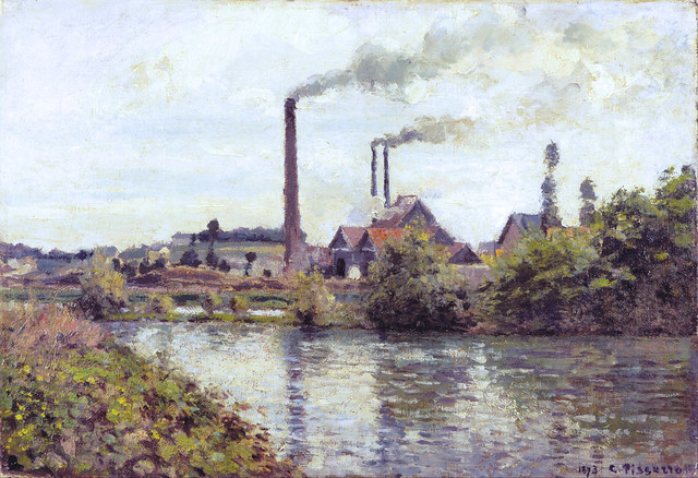 Camille Pissarro - Factory at Pontoise [1873]