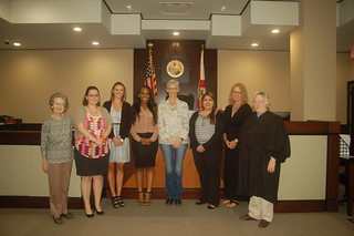 Five new volunteers sworn in as guardians ad litem at the Leon County Courthouse in Tallahassee, Florida on October 21, 2015. | by flguardian2