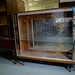 Retro worn laminate china cabinet
