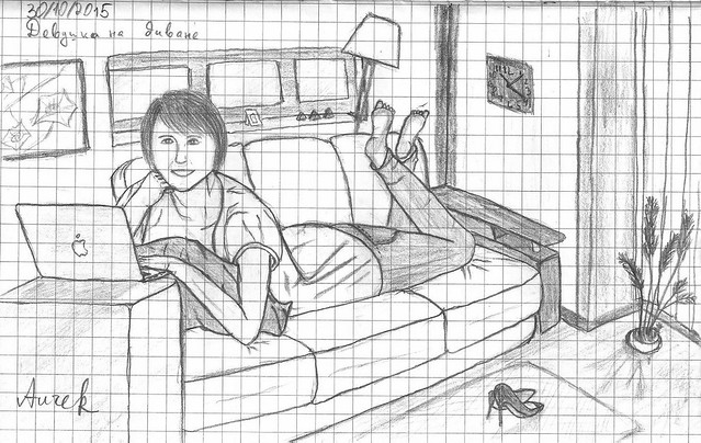 Girl on the couch. October 30, 2015