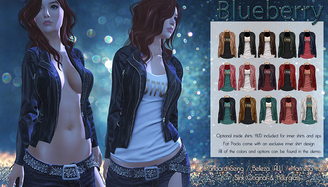 Blueberry Asia Leather Jackets