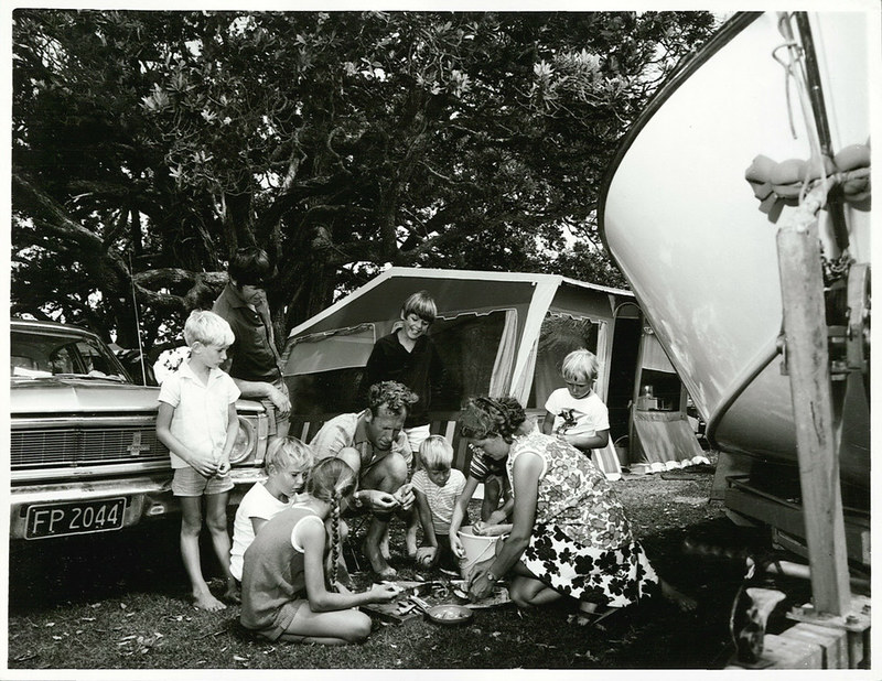 Family camping has always been experiencing the outdoors as a civilised nature