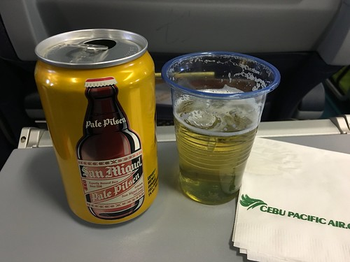 Cebu Pacific, in flight beer P130 (QR 10, GBP 1.90) a can | by www.iCandy.pw