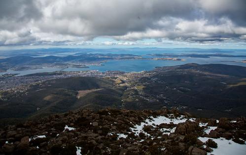 clouds view tasmania hobart mtwellington kunanyi
