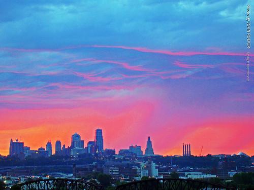 morning color colour colors skyline clouds sunrise colours september kansascity missouri kc kcmo 2015 september2015