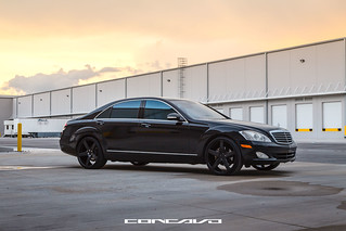 Mercedes Benz S550 on CW-5 Satin Black | by Concavo Wheels
