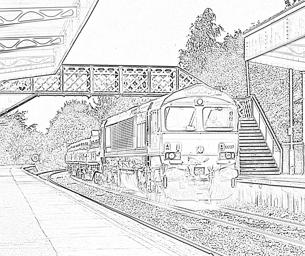 Goods Train Warminster - coloring | A freight train ...