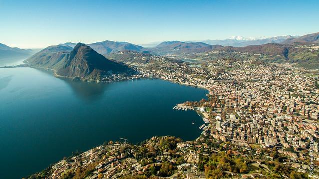 View on Lugano from Monte Brè