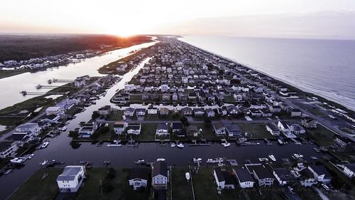 ocean beach sunrise photography northcarolina aerial holden nathanfirebaughphotography djiphantom2