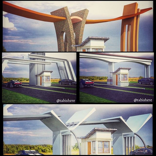 Heres #collage Of All 5 #entrance #gates For A #Factory