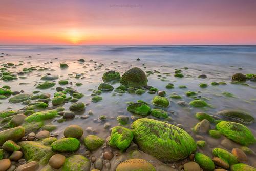 mossy stone sunset nikond750 borneo sabah malaysia borneolanscape sunrise sabahborneo kudatsabah batuluangkualapenyu seamossy lowtide slowshutter lanscape leefilter leebigstopper sabahsunset sabahsunrise sabahisland mohdzakishamsudin zakiesphotography travel famous asia asean beach rock peaceful