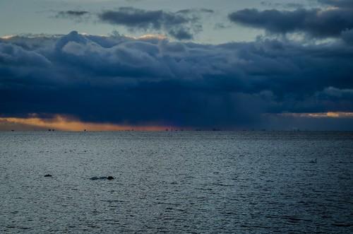 cloud sky rain bjärred skåne sweden öresund copenhagen denmark outdoor