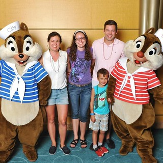Also saw Chip and Dale! Always a favorite. We danced for our photo. | by auley