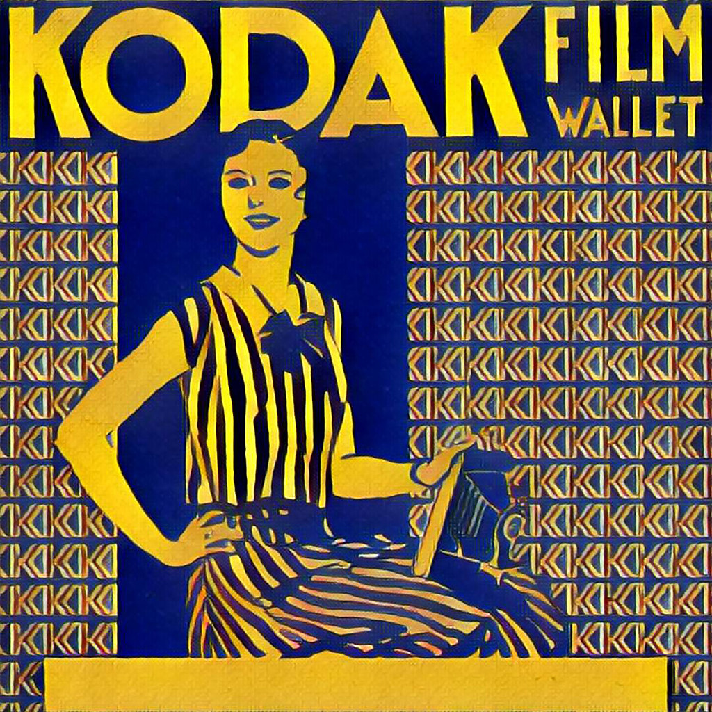 KODAK FILM WALLET | Created using the iPhone Prisma App and