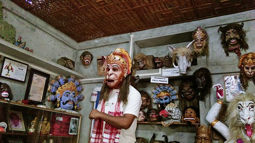 india island mask hanuman assam satra northeastindia majuli samaguri samagurisatra