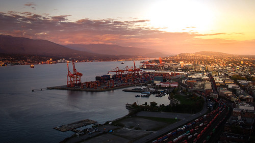 sunset sea canada vancouver port cityscape harbour britishcolumbia 夕陽 海 水 溫哥華 加拿大 港口 港灣 英屬哥倫比亞省