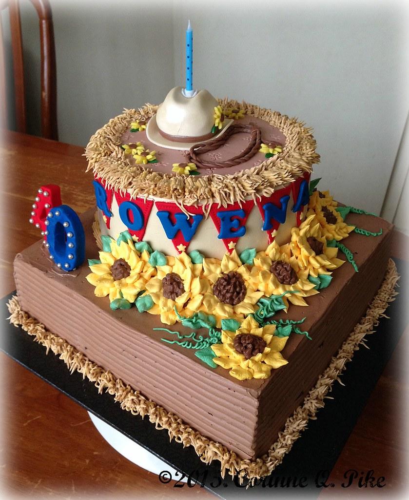 Awe Inspiring Cowboy Western Themed Birthday Cake Pike Corinne Flickr Funny Birthday Cards Online Alyptdamsfinfo