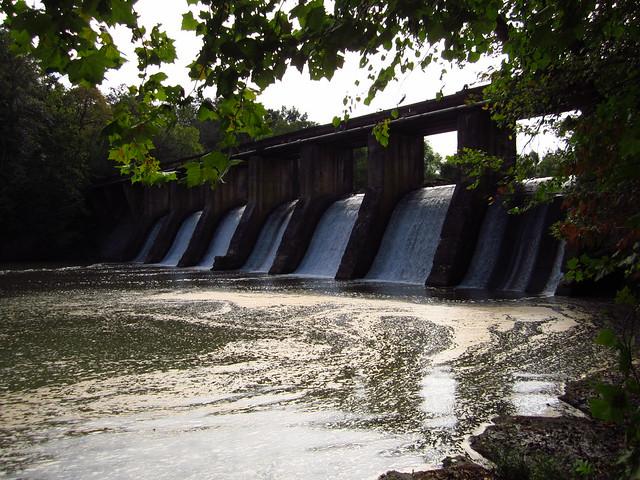 Burgess Falls Dam Front
