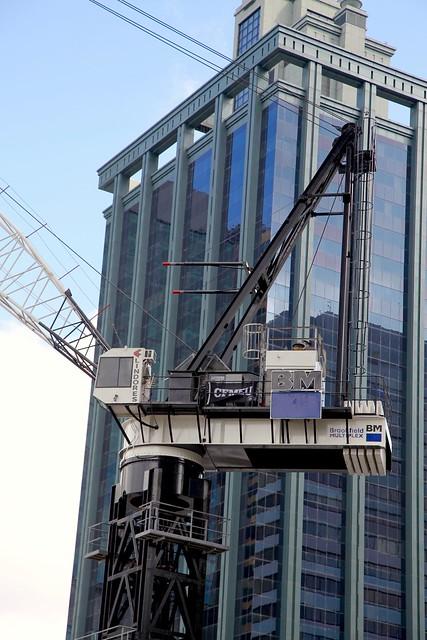 crane construction in George Street Brisbane