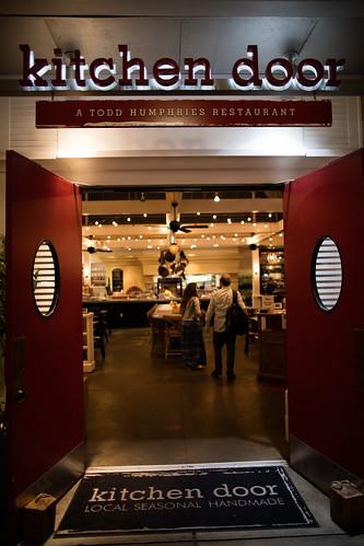 Red Kitchen Door Restaurant sign | by winecountrymedia