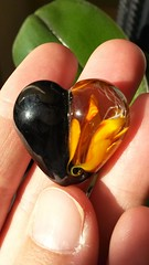 Flame flower heart bead