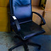 Black swivel chair E50