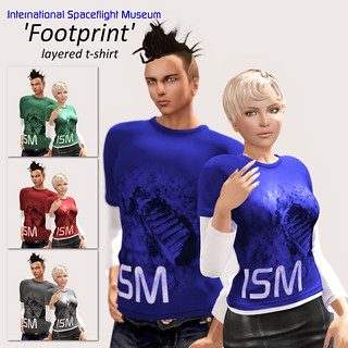 """ISM """"Footprint"""" shirt Ad for 2015 World Space Week hunt"""