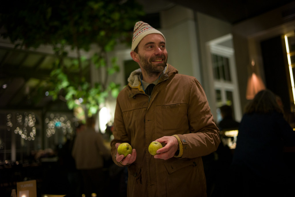 Theun Karelse with FoAM's guerilla grafted apples